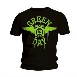 Rock Off Green Day Neon Black Mens Black T Shirt: L