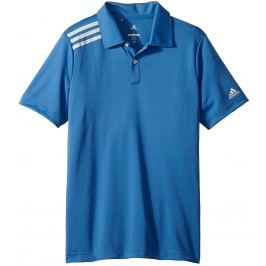 Adidas Boys 3-Stripes Solid Polo Trace Royal 7-8Y