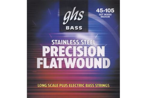 GHS M3050 Precision Flatwound Bass Strings Medium Hlazené baskytarové struny